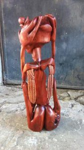 Makonde African Carving - Red Devil