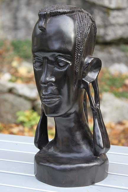 Makonde Head African Carving