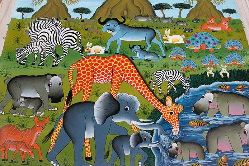 Safari African Painting for Sale