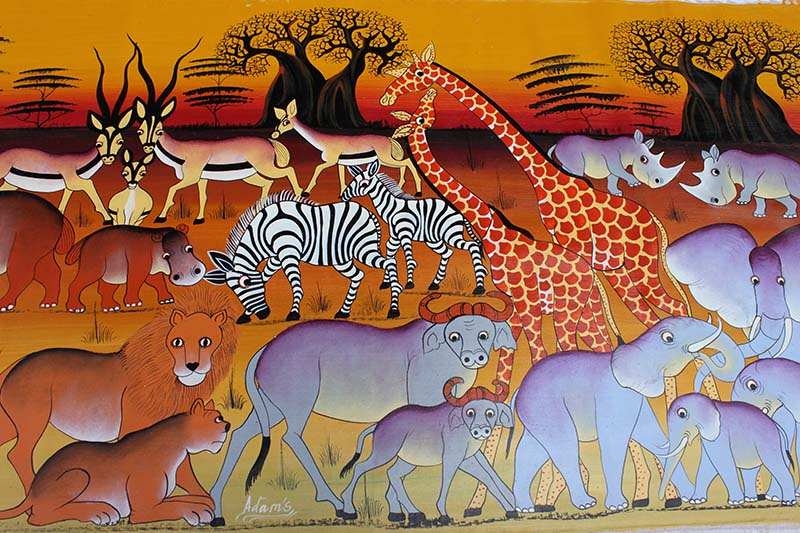 Animals of Africa - African Painting