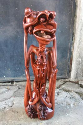 African Makonde Carving - Red Devil
